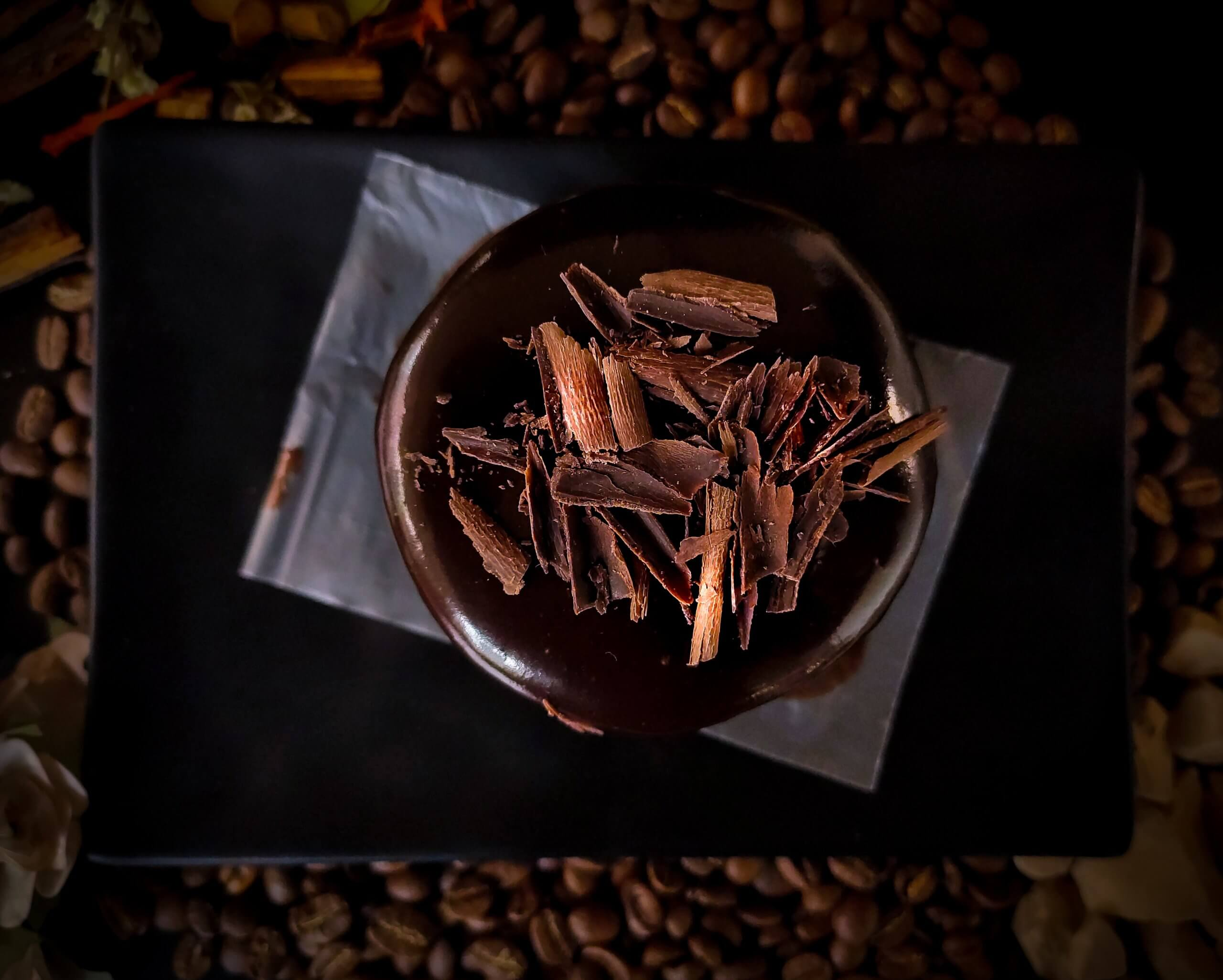 Deko Schokolade geraspelt