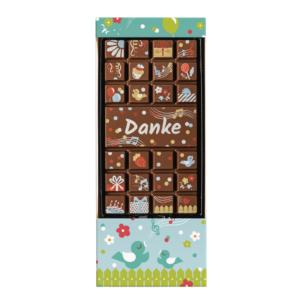 Schokoladentafel Danke